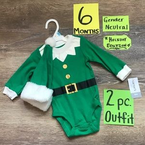 🎄NWT Carter's 6 Month 2pc Christmas Onesie